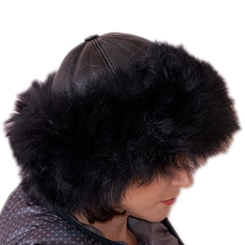 Dazoriginal Russian Cossack Ladies Hat - 100% Genuine Leather and