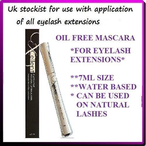 Excellent Volume Up Mascara für künstliche Wimpern, wasserbasiert, ölfrei, für voluminöse...
