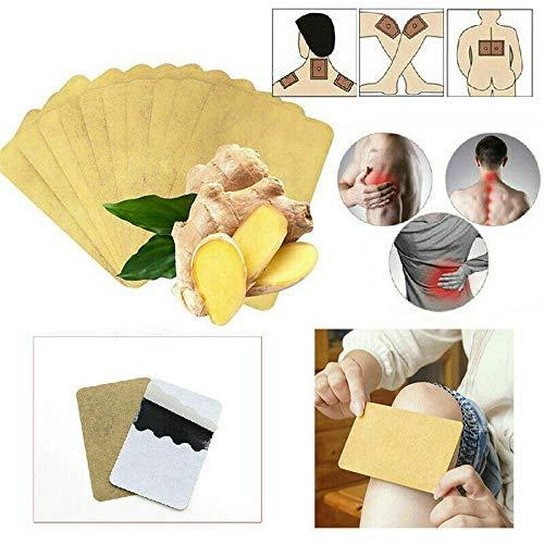 Kräuter-Ingwer-Fußpolster, Ingwer-Bio-Schlaf-Fußpflege Entspannen Sie sich, entzündungshemmende Schwellung und einfache Anwendung, für Frauen Männer fördern die Durchblutung (40 Pcs)