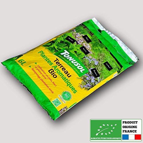Tonusol - Terreau biologique plantes aromatiques. Tonusol 6 litres