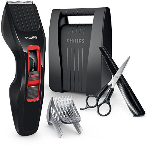 Philips Hairclipper Series 3000HC3420/83Akku schwarz, rot Haarschneider Rasierer (schwarz, rot, Edelstahl, 2,3cm, 0,5mm, 4,1cm, 2Jahr (E))
