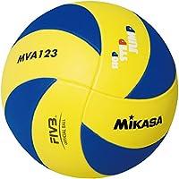 Mikasa Bälle Mva 123 - Balón de voleibol para interior, color azul/amarillo, talla 5