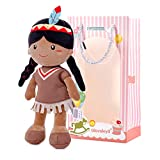 Gloveleya Bambola Bambino Baby Girl Doni psuma Morbida Prima Bambola da 1 a 2 Anni 33CM Ragazza Indiana