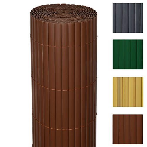 Sol Royal Garden Screen SolVision 120 x 500 cm Brown Privacy Screen for Garden or Balcony Bamboo Slat Optic Fence Test