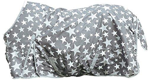 HKM 75489500.0021 Weidedecke Stars 600D mit Polarfleecefutter, grau