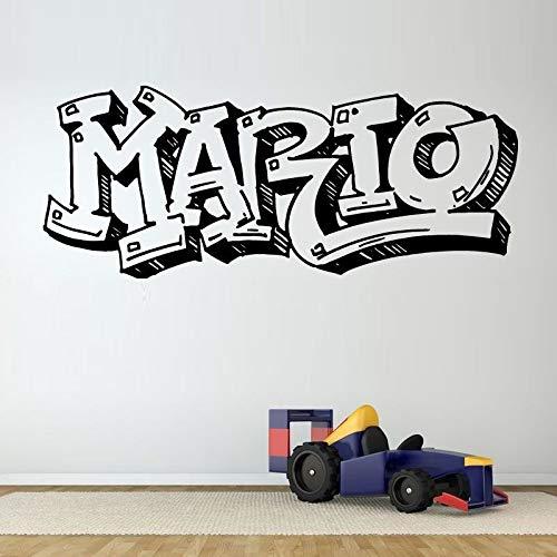 jiuyaomai Große Beschriftung Mode Muster Wandaufkleber Für Kinderzimmer Wandtattoos Schlafzimmer Babys Vinyl Aufkleber Home Art Murals rot 137X57 cm