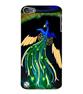 ColourCraft Lovely Peacock Design Back Case Cover for APPLE IPOD TOUCH 5