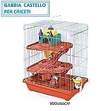 BPS PET SHOP Gabbia per CRICETI Gabbia Criceto Castello con Scivolo per CRICETI Colore Casuale (35x26x46cm)