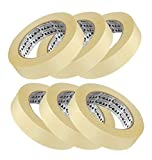 #9: ELA Tapes Masking Tape for Carpenters & Painters 6 Rolls of 24mm X 20Mtr Each