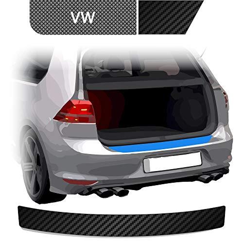 BLACKSHELL Ladekantenschutz inkl. Premium Rakel für Golf 4 Variant Typ 1J Carbon Matt - passgenaue Lackschutzfolie, Auto Schutzfolie, Steinschlagschutz, Stoßstangenschutz