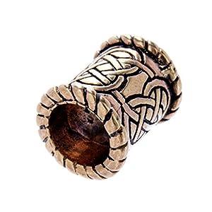 Bartperle Haarperle Bronze Keltenknoten