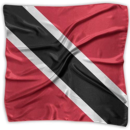 Xukmefat Quadratisches Satin-Kopftuch mit Trinidad-und-Tobago-Fahne, seidenmatt wie die leichte Haarverpackung