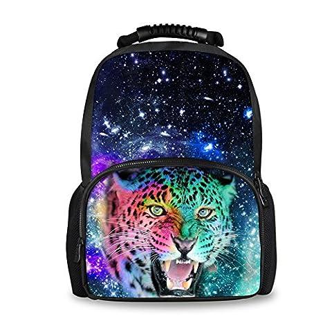 coloranimal mode homme Galaxy Sac à dos cool animal motif feutre bookbags pour l'école Tigre large(17.3