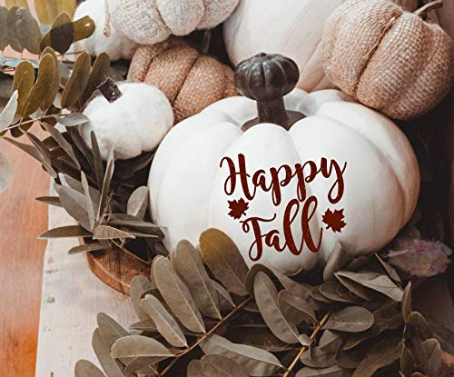 bis-Aufkleber Herbst Tischdekoration Happy Fall Aufkleber Herbst Erntedankfest Halloween Dekoration Hochzeit Willkommen Schild ()