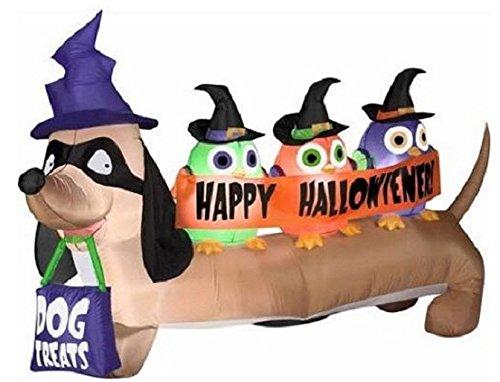 Gemmy Airblown Aufblasbare Halloween Halloweiner Weiner Hund mit -