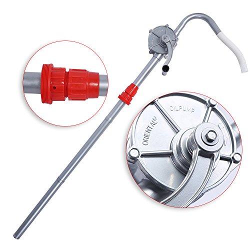 EBTOOLS Pompa Travaso Liquidi Rotativa, Pompa Olio Manuale, Olio Barile Pompa Manuale, 29 L/Min Pompa di Benzina Diesel Fuel Too