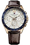 Tommy Hilfiger Herren-Armbanduhr Analog Quarz Leder 1791118