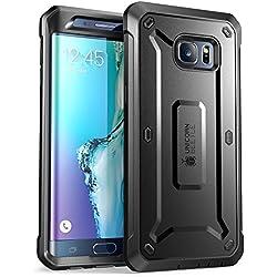 Samsung Galaxy S6Edge Plus Coque de protection, Supcase Unicorn Beetle Pro Series avec clip ceinture Holster/étui de protection avec film de protection d'écran intégrée et AUX chocs pare-chocs. (Noir)