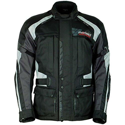 Modeka DOWNTOWN RACE Textiljacke Touring - schwarz grau Größe 2XL