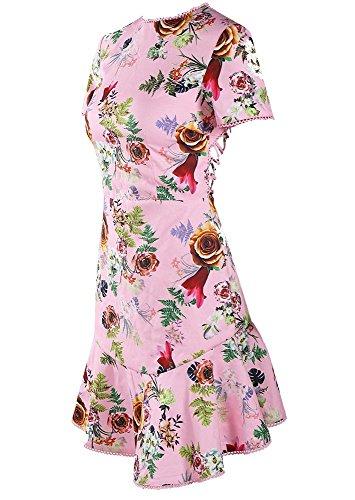 Missord -  Vestito  - Casual - Maniche corte  - Donna Multi Pink