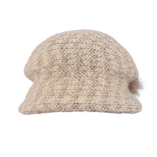 Kenmont femmes automne hiver dame seau acrylique extérieure bouchon béret chapeau Beige