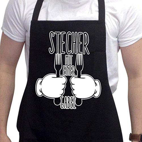 Lustige Grillschürze Neuheit Grillen Kochen Geschenke für Herren Stetcher Mit Einer Gabel