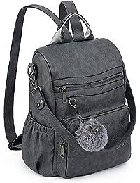 6d7ec94ad664d UTO Damen PU Washed Leder Daypack Rucksack Damen Rucksack Schultertasche 3  Arten Griffe Rucksack Griff Schultergurt Multi…