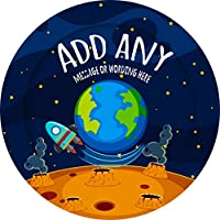 Space Planet Earth Sticker Labels Personalised Seals Ideal for Party Bags, Sweet Cones, Favours, Jars, Presentations Gift Boxes, Bottles, Crafts