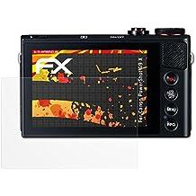 3 x atFoliX Protector Película Canon PowerShot G9 X Lámina Protectora - FX-Antireflex-HD Antirreflejo para pantallas de alta resolución