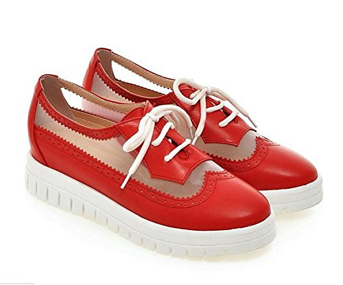 donne Scarpette cross platform benda aumentando le scarpe della maglia di svago red