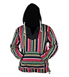 virblatt - Baja Hoodie Herren und Hippie Hoodie Alternative Kleidung - Rotterdam L