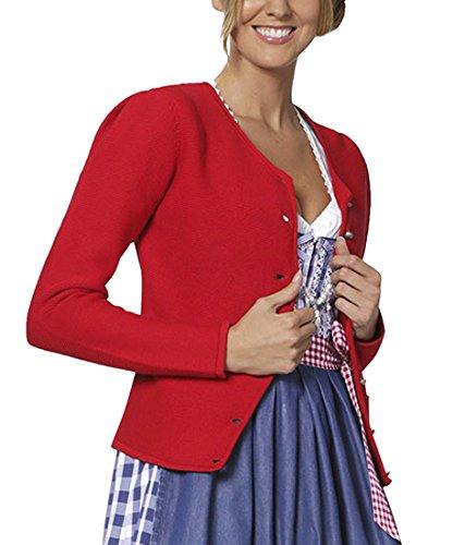 Stockerpoint Damen Trachtenstrickjacke Jacke Rosali, Gr. 36, Rot (rot)