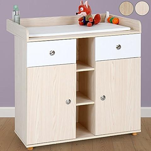 Infantastic® - Cambiador para bebés con gran compartimiento para almacenar cosas en 2 colores a