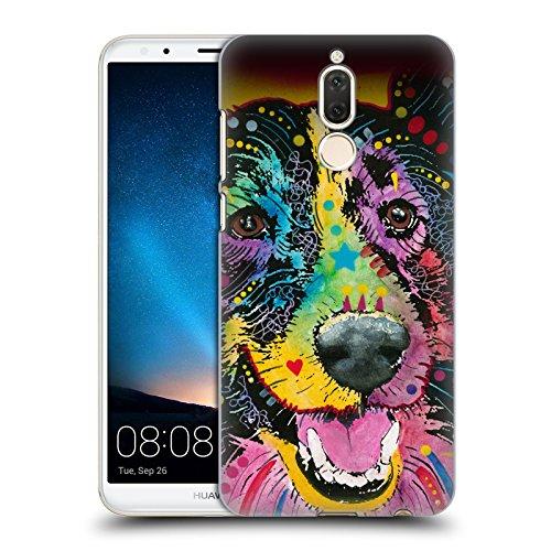 Erhöht Hund Schalen (Offizielle Dean Russo Lächelnder collie Hunde Ruckseite Hülle für Huawei Mate 10 Lite)