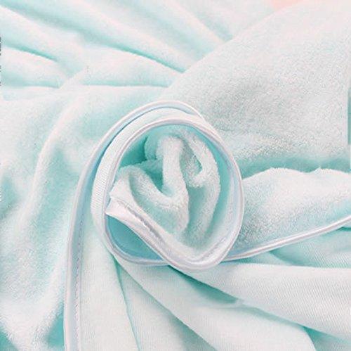 fibra di bambù morbido colore puro telo da bagno ( Colore : Giallo ) Blu