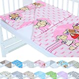 LCP Kids New Sheeps Pink Kinder Baby Bettwäsche Set Garnitur 135x100 Bettdecke 60x40 Kissen