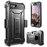 iPhone 7 (4.7) (2016) Hülle, SUPCASE Unicorn Beetle PRO Series Schutzhülle mit eingebauter Displayschutzfolie + Case mit Gürtel-Clip Holster / Trageclip (schwarz/schwarz) -