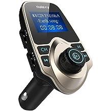 Trasmettitore FM, Nulaxy Trasmettitore FM Bluetooth per Auto Lettore Musica con Doppia Porta USB di Ricarica per iPhone SE 6s 6s Plus iPhone 6 6 Plus, Samsung Galaxy S6 S6 Edage S7 S7 Edage, iPad