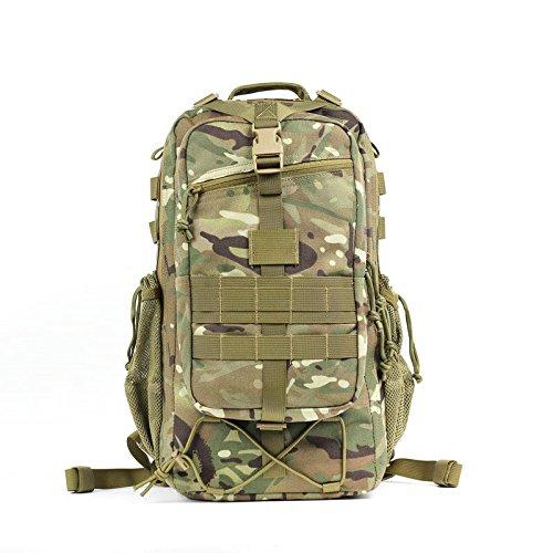 Outdoor Training professionale zaino alpinismo impermeabile Borsa Zaino da viaggio zaino camouflage, lupo brown A