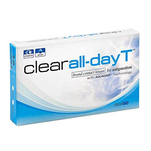 Clear All-Day T, torische Monatslinsen weich, 6 Stück/BC 8.70 mm/DIA 14.4/CYL -1.75/ACHSE 170/-7.5 Dioptrien