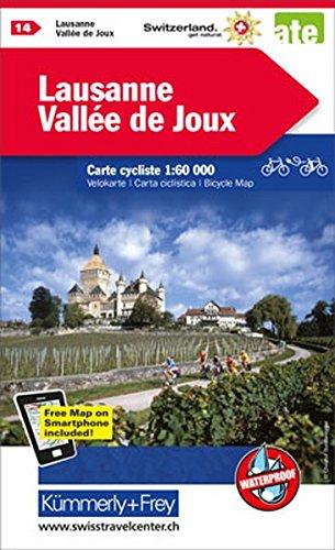 Lausanne / Vallee de Joux 14 cycle map 2017