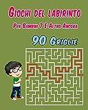 Giochi Del Labirinto Per Bambini 7 E Altro Ancora: Labirinti di personaggi grandi giocano a blocchi | 90 griglie | Giochi e Passatempi, ideale Aussi Per le persone ipovedenti