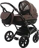 Knorr-Baby Kombi-Kinderwagen Voletto Carryo schwarz-braun