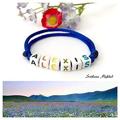 Bracelet avec prénom ALEXIS (réversible, personnalisable) homme, femme, enfant, bébé, nouveau-né.