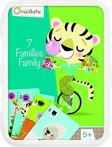 Avenue Mandarine CO110O Un jeu de cartes - Jeu des 7 familles Animaux en voie de disparition