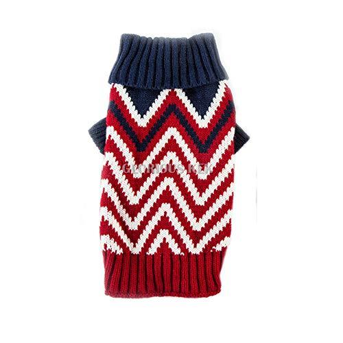 (Feidaeu Pet Knit Warme Pullover für kleine mittelgroße Hunde Mops Chihuahua Strickwaren XS-XXL)