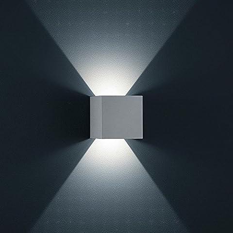 K-Bright Lampada Da Parete A LED Corpo In Alluminio Bianco Con Angolo A Fascio Regolabile Progettare Nuovi 12W Bianca Fredda Luce Della Lampada Di Gesso Impermeabile IP65 Su e Giù design