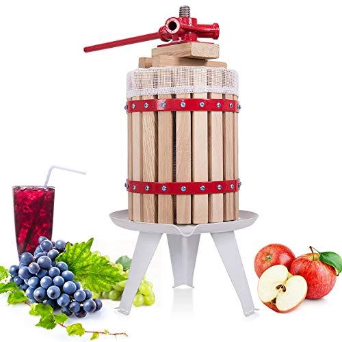 COSTWAY Weinpresse Obstpresse Saftpresse Fruchtpresse Apfelpresse mechanische Presse Maischepresse in verschiedenen Größen (6L)