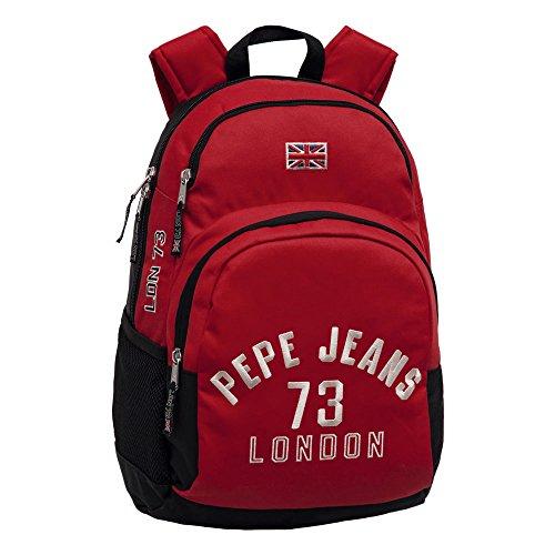 Pepe Jeans Mochila Portaordenador, Diseño Kanoa, Color Rojo, 24.64 Litros