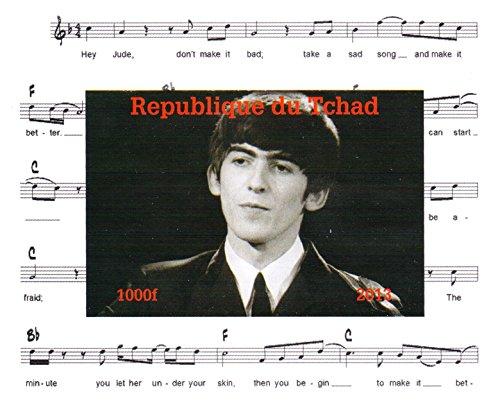 I Beatles francobolli da collezione - George Harrison Imperforate francobollo minifoglio miniatura - condizione Superb e mai incernierate - 2013 / Ciad / 1000F